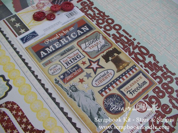 Scrapbook Kit - Stars and Stripes