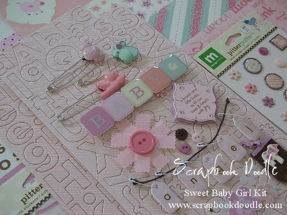 Scrapbook Kit - Sweet Baby Girl