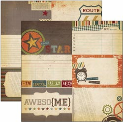 "Simple Stories: Awesome - Elements 12""X12"" - Journaling Card #2"