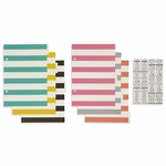 Simple Stories Carpe Diem A5 Basic Dividers with Clear Label Stickers