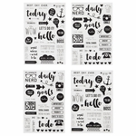Simple Stories Carpe Diem Clear Stickers (E)