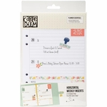 Simple Stories Carpe Diem Planner Essentials A5 Horizontal Weekly Inserts