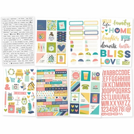 Simple Stories Domestic Bliss Stickers 4x6