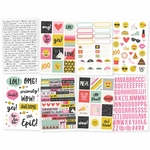Simple Stories Emoji Love Stickers 4x6