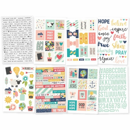 Simple Stories Faith Stickers 4x6