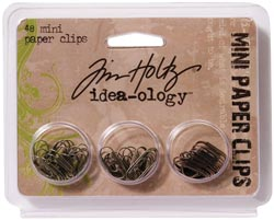 "Tim Holtz Idea-Ology .625"" Mini Paper Clips - S/O"
