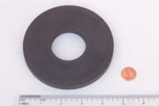 "4.540"" OD x 1 3/4"" ID x 0.400"" Ceramic Ring Magnet"