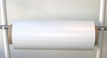 "0.060"" x 24"" x 50' White Flexible Magnetic Sheeting"