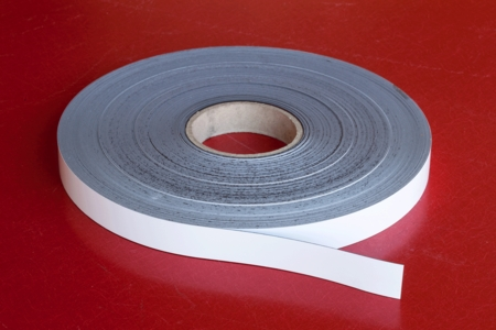 """Flexible Magnetic Stripping 0.030"""" x 1.00"""" x 200' White"""