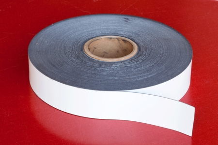 "Flexible Magnetic Stripping 0.030"" x 2.00"" x 200' White"