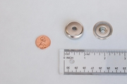 """Neodymium Cup Assembly Magnet 1.250"""" dia x 0.3"""" (Straight Hole)"""