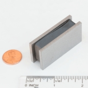 "2 1/8"" x 1"" x 5/8"" Sandwich Assembly Magnet"
