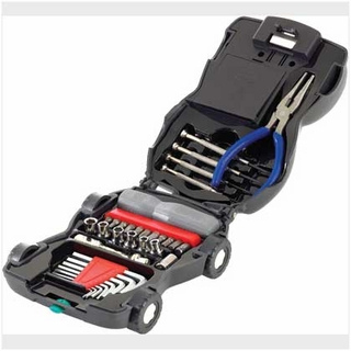 34-Piece Lighted Car Toolkit
