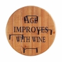 Aged Round Wine Wall Rack