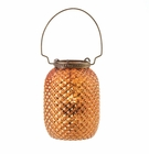 Amber Diamond Candle Lantern