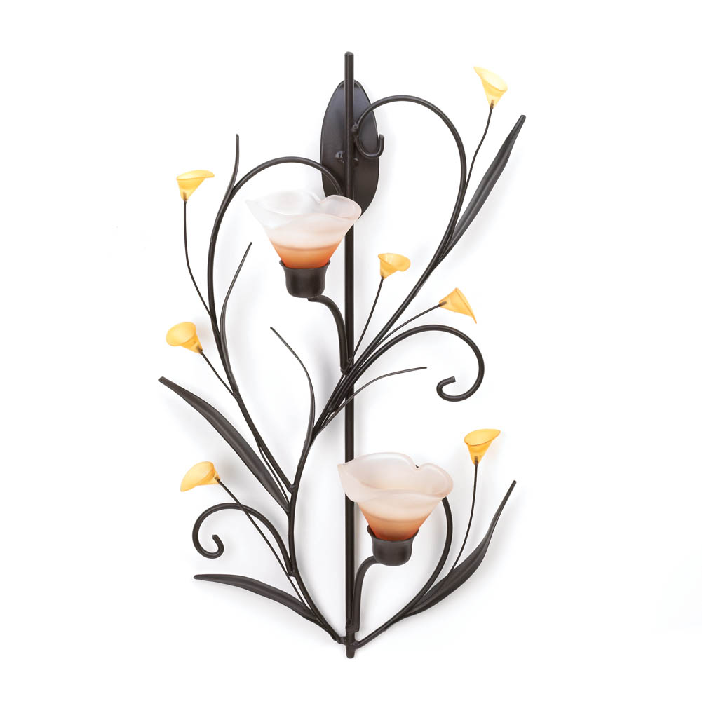 Wall Sconces Bulk: Amber Lilies Candle Wall Sconce Wholesale At Koehler Home