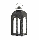 Arched Black Medallion Lantern (L)