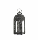 Arched Black Medallion Lantern (S)