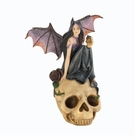 Bat Fairy Skull Figurine