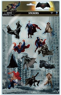 Batman V Superman Puffy Stickers