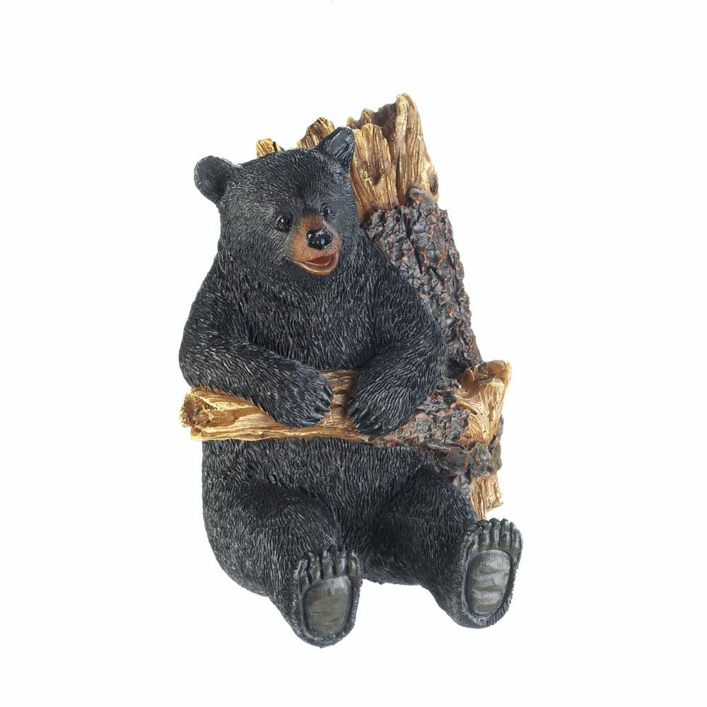 Bear in a tree wall hook wholesale at koehler home decor for Bear decorations for home