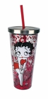 Betty Boop Glitter Cup With Straw