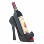 Black Peep Toe Shoe Wine Holder