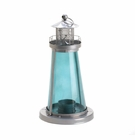 Blue Watch Tower Candle Lantern Lamp