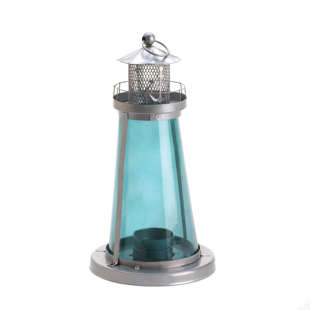 Blue Watch Tower Candle Lantern Lamp At Koehler Home Decor