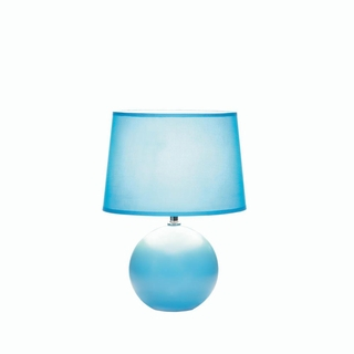 Blue round base table lamp wholesale at koehler home decor for Table lamp bases wholesale