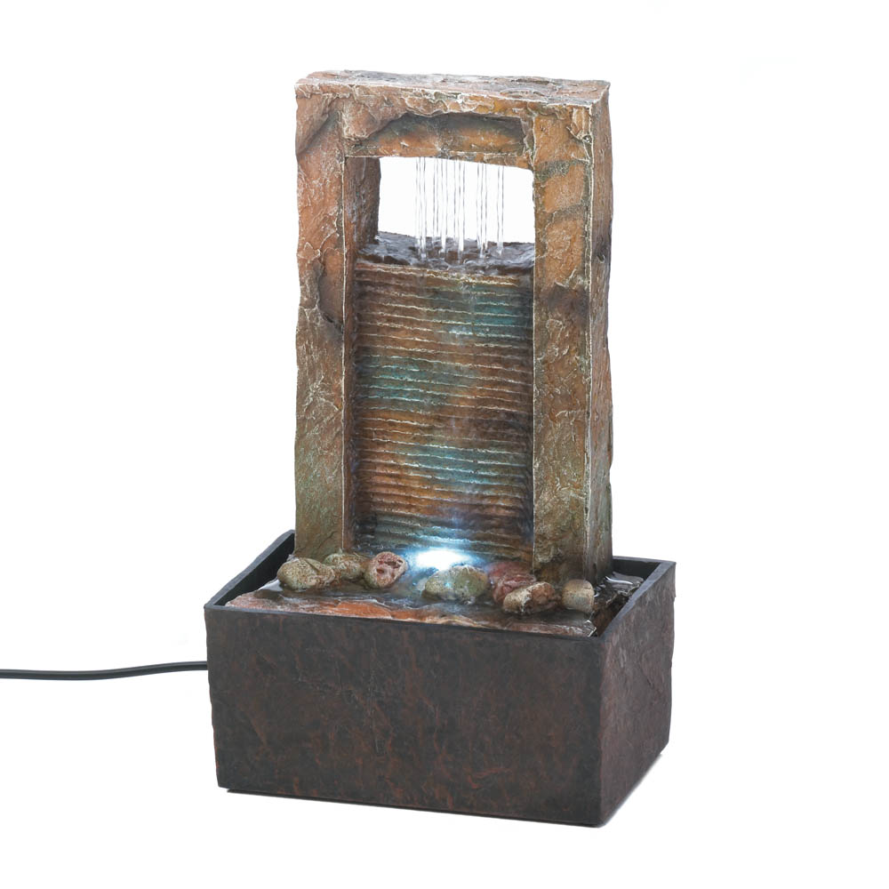 Cascading Water Tabletop Fountain ...