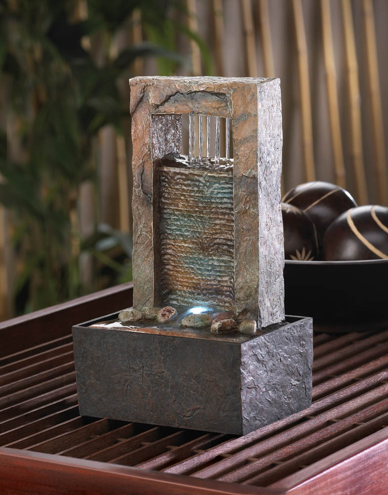 Cascading water tabletop fountain wholesale at koehler for Koehler home decor