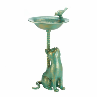 Cat Bird Bath