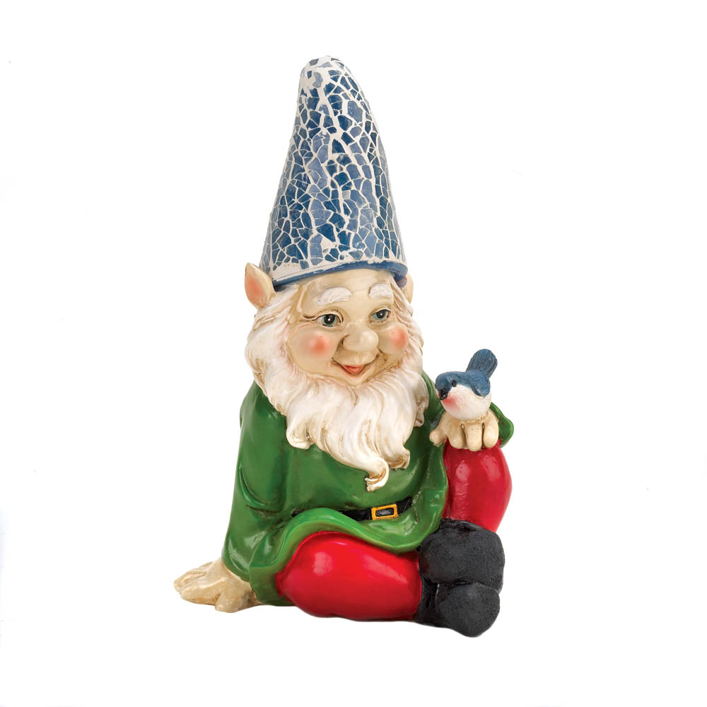 Gnome In Garden: Cheery Gnome Solar Garden Statue Wholesale At Koehler Home