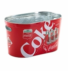 Coke Galvanized Large Oval Party Tub