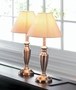 Contemporary Copper Lamps Trio