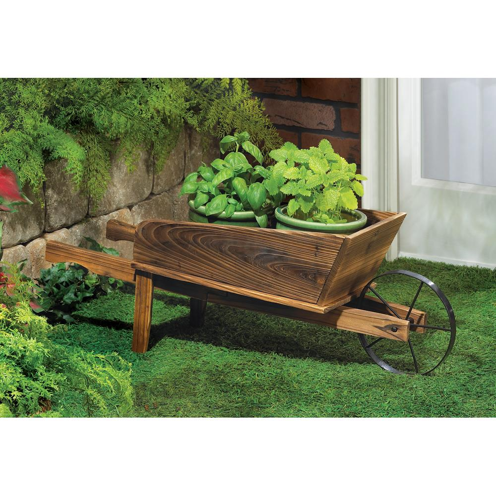 Charmant Country Flower Cart Planter Country Flower Cart Planter