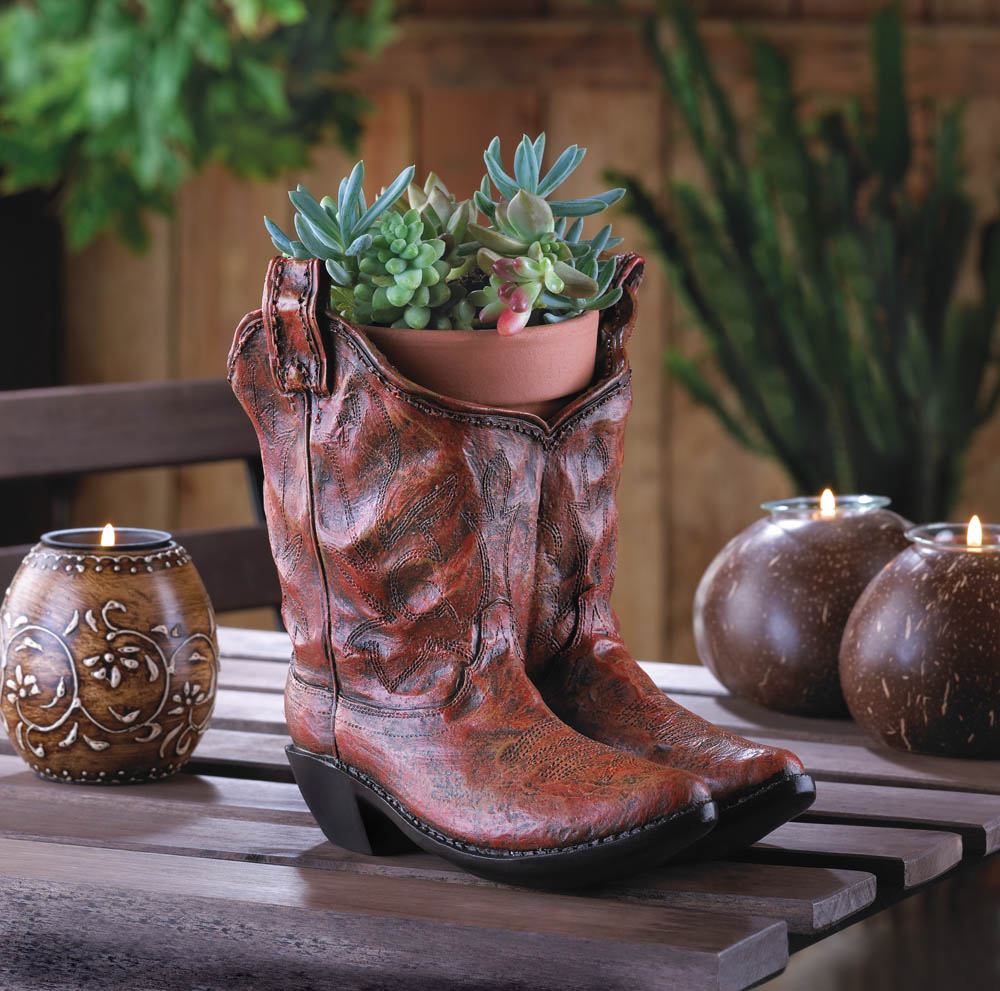 Cowboy Boot Planter Wholesale At Koehler Home Decor