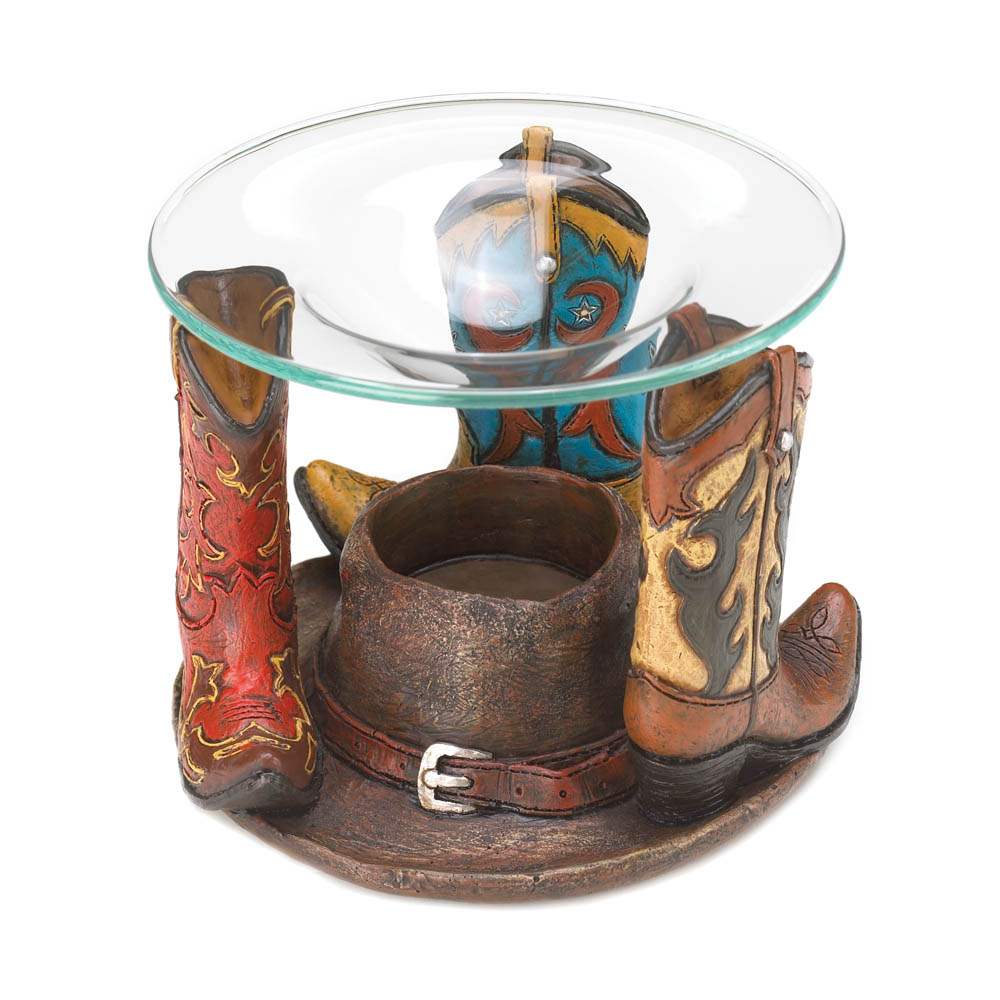 Cowboy Boots Oil Warmer Wholesale At Koehler Home Decor