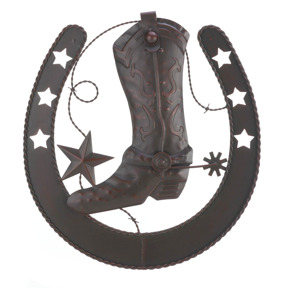 Cowboy Horseshoe Wall Decor. Hover To Zoom