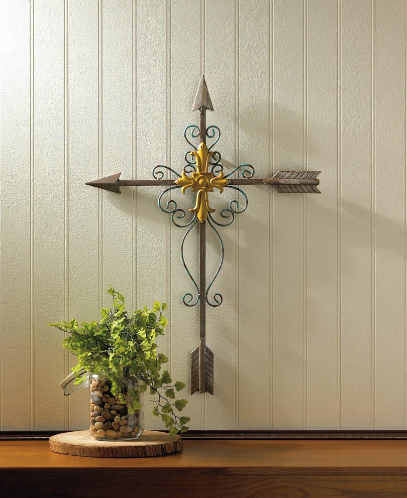 Crossed arrow wall cross wholesale at koehler home decor Home decor wall crosses