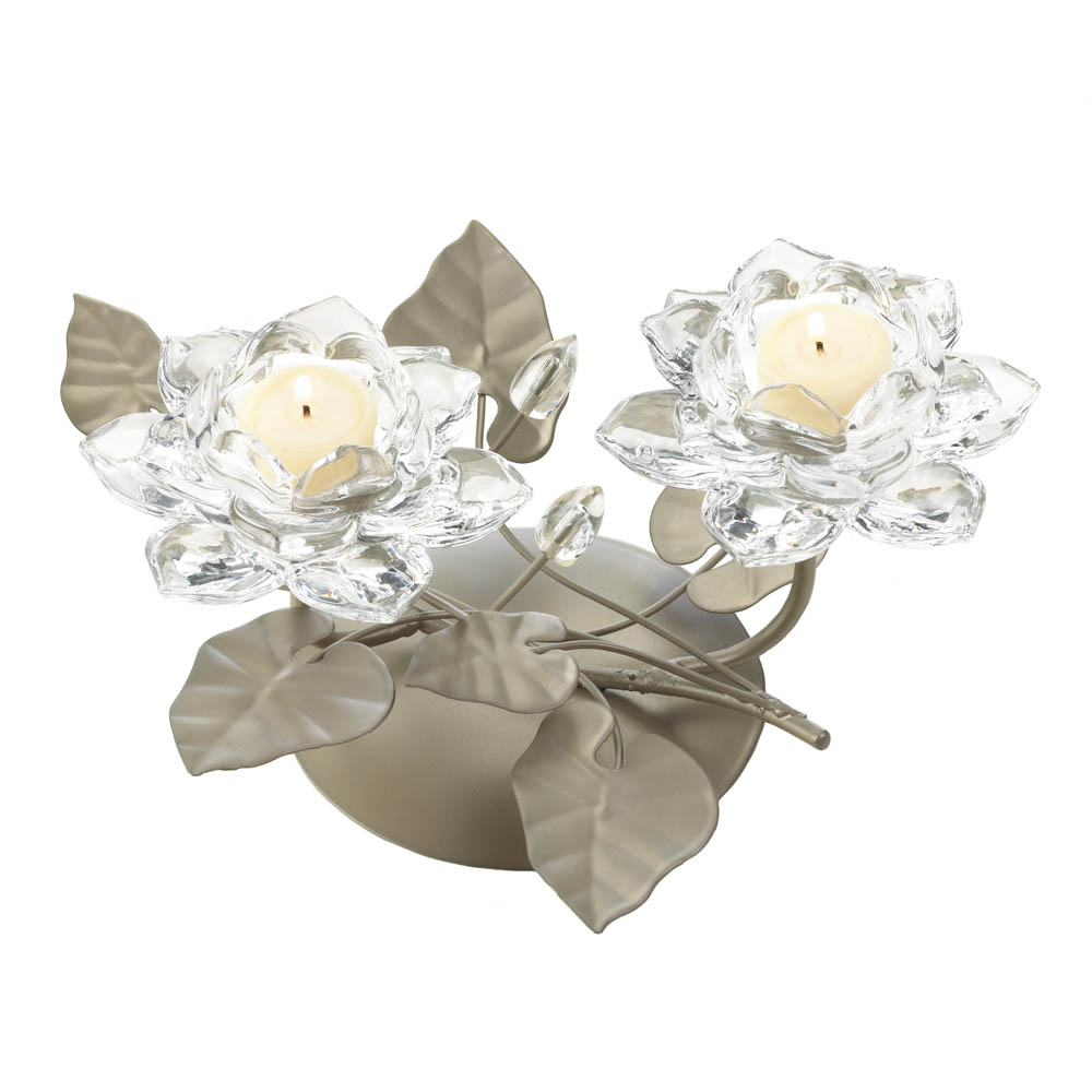 Crystal Flower Centerpiece Candleholder Wholesale at Koehler Home Decor