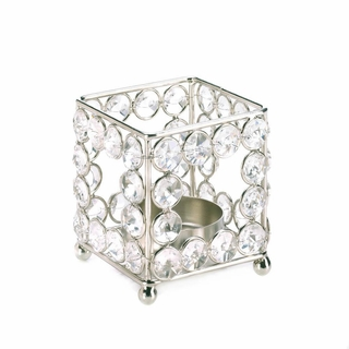 Crystal Square Candle Holder