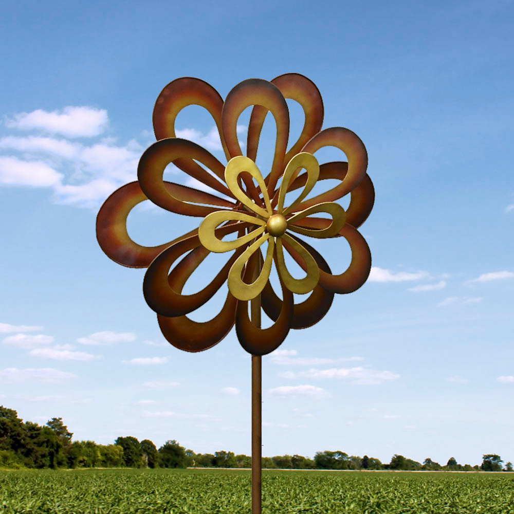 Spinning garden decorations - Dancing Daisy Garden Windmill Garden Spinner