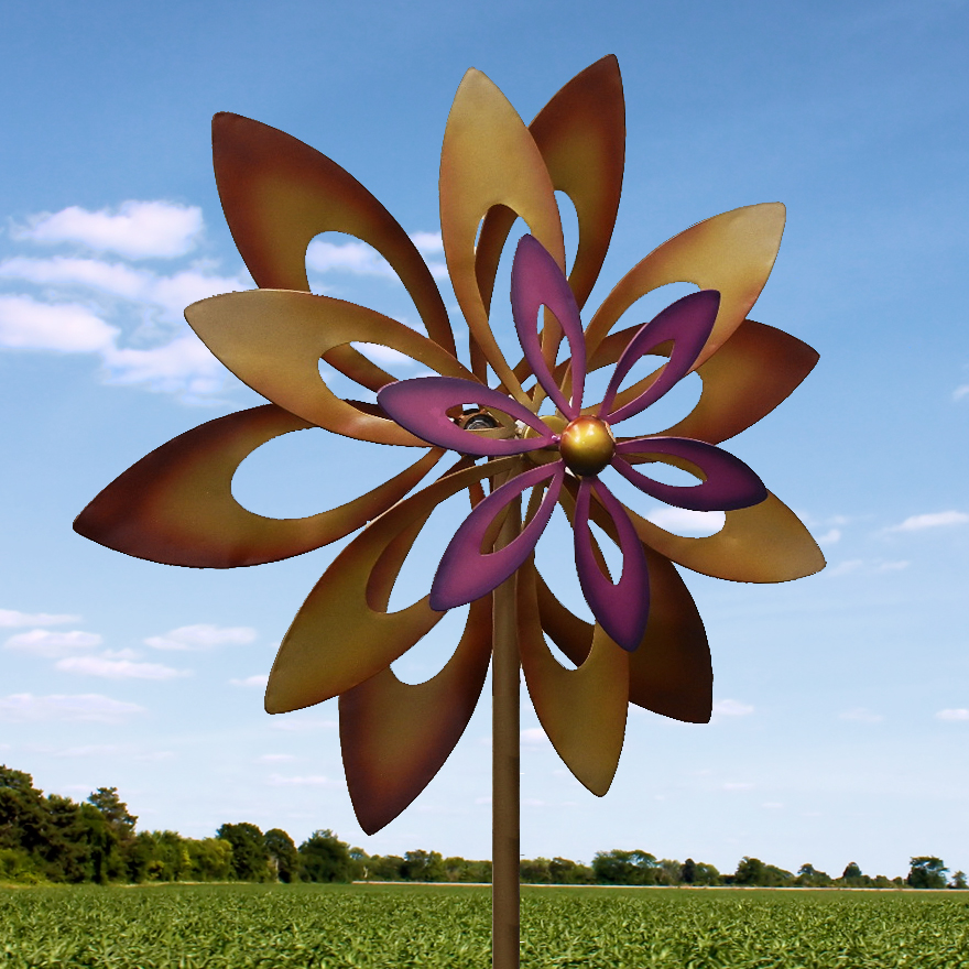 Awesome Dancing Sunflower Garden WINDmill Garden SPINNER