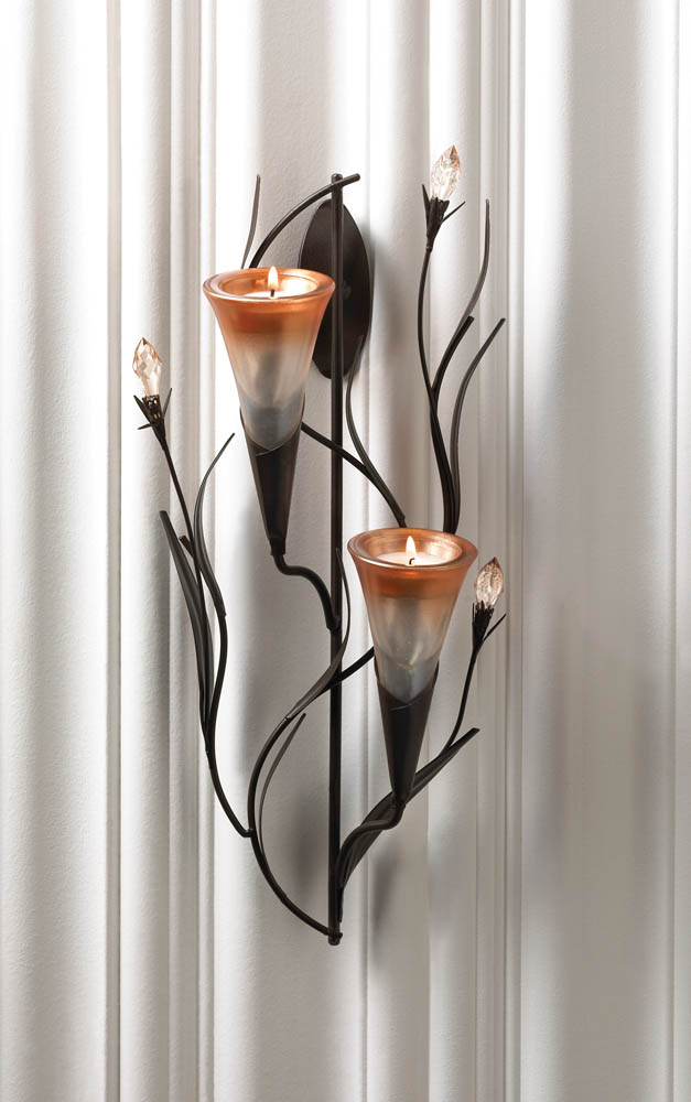 Dawn Lilies Candle Wall Sconce Dawn Lilies Candle Wall Sconce