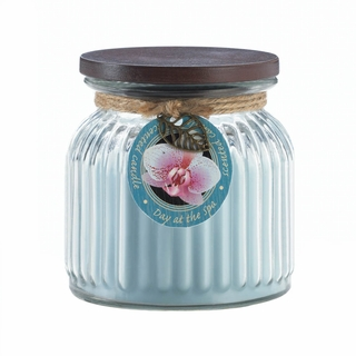 Day Spa Ribbed Jar Candle