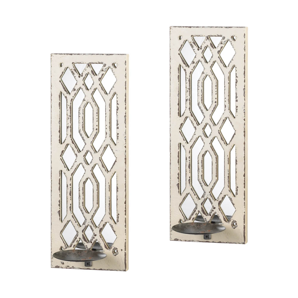 Wall Sconces With Mirrors : Deco Mirror Wall Sconce Set Wholesale at Koehler Home Decor