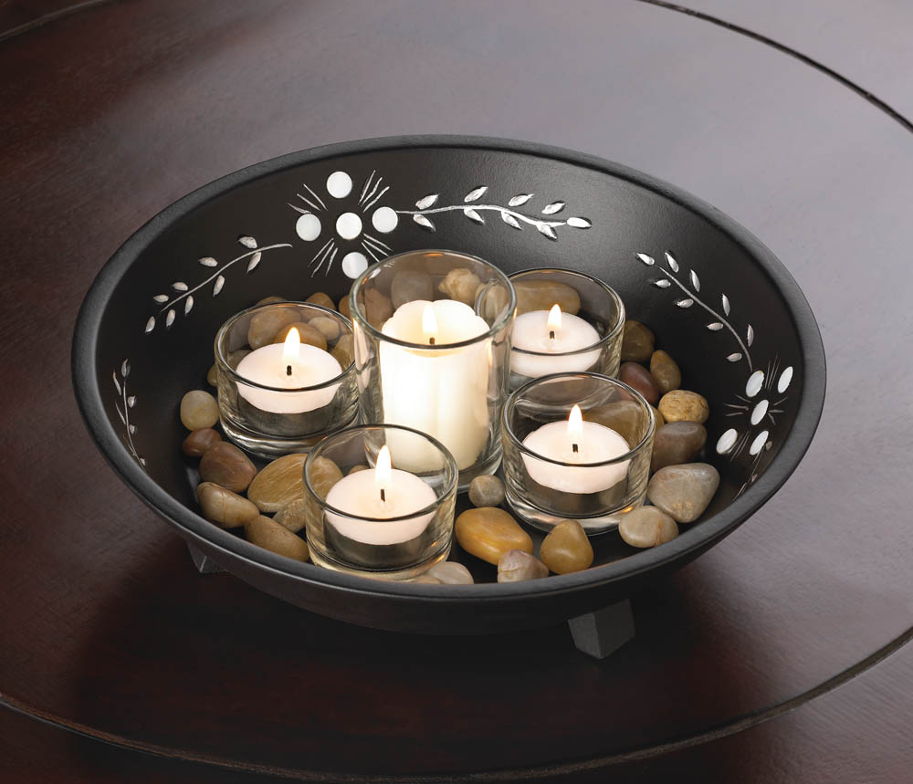 Decorative Candle Bowl Set Decorative Candle Bowl Set