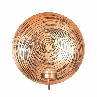 Dizzy Circle Design Plate Wall Sconce